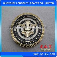 3D Custom stamping bronze medallion replica coin metal cheap medal award coin for souvenirs