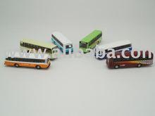 Set of 6 N Scale Buses DieCast