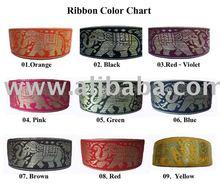 Thai Elephant & Flower Design Decorative Sewing Ribbon Fabric