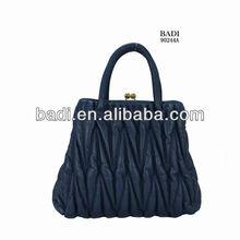2013 hot selling latest brand design pure leather ladies casual diamond tote handbags