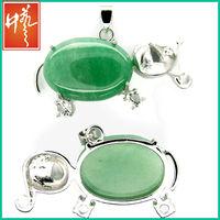 Buy antique jewelry green aventurine pendant jewelry wholesale thailand