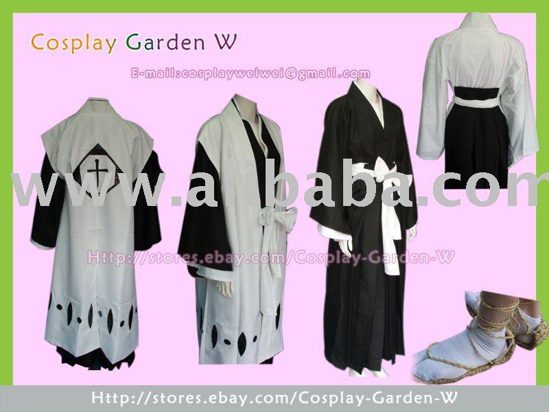 bleach shinigami capitán kimono de cosplay traje de cualquier equipo