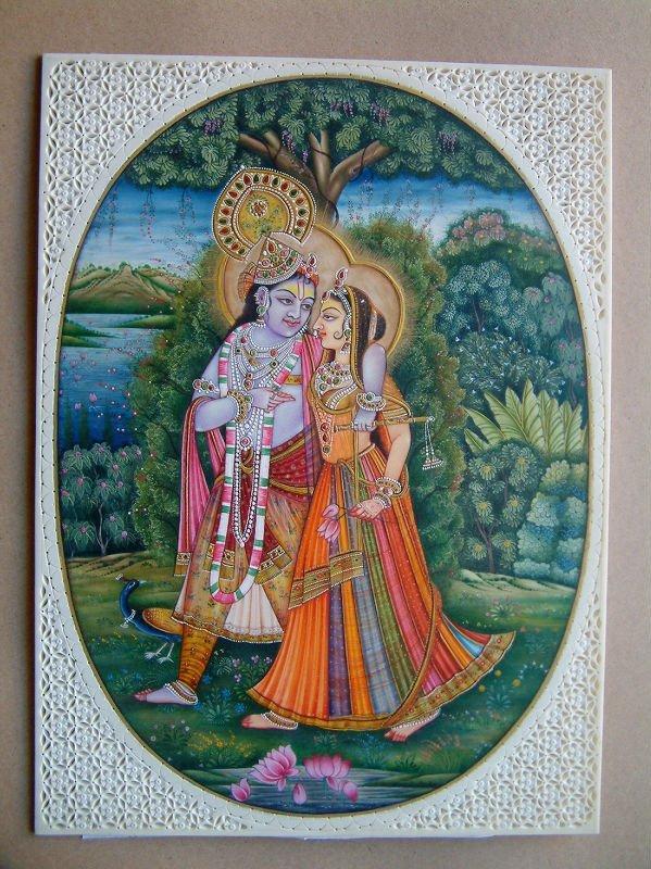 Krishna Radha Miniature Paintings Radha Krishna Miniature