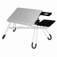 Lightweight adjustable aluminium folding table