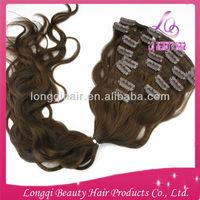 Wholesale alibaba virgin 100% brazilian hair clip-on hair extension