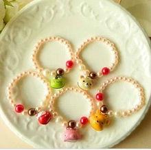 cartoon bell pearl bracelet for children