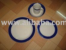 stock stoneware handpainted 16 pc dinner set