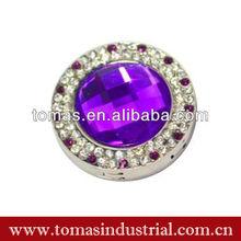 Lovely promotional purple crystal bag holder