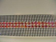 trimming Banding with plastic stones Plastik tasli serit