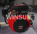 V- twin moteur diesel de l'agriculture