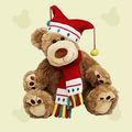 baratos brinquedos de natal bonito natal recheado de pelúcia urso de brinquedo