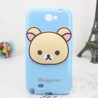 PC hard case plastic cute cartoon Rilakkuma case for Samsung Galaxy Note 2 N7100 with earphone winder