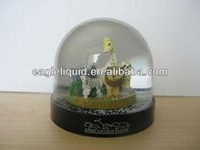 acrylic plastic custom animal giraffe tiger horse elephant inside halloween snow globe