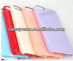 Fashion design transparent plastic case for iphone 5