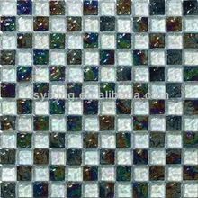 new top square diamond decorative glass tables from garden with floor tiles (YX-GS20)