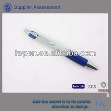 stylish rubber grip plastic ballpoint pen