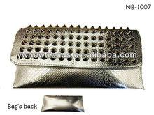 Ladies silver stud clutch bag/wallet