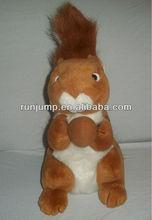fancy plush stuffed orange white squirrels