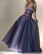 V-Neck Spaghetti Evening Dress Prom Dress Bridesmaid Dress