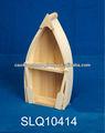 Novo projetado ambiental inacabadas pequeno barco de madeira com 2 remos para artesanato