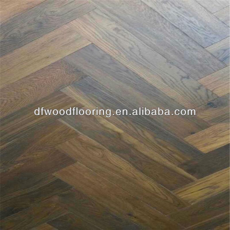 오늬 무늬 고풍스러운 오크 나무 마루 단단한 나무 바닥-목재 ...