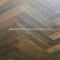 Antique Oak Herringbone Parquet Solid Wood Flooring