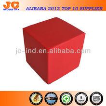 Luxury Red/Black Foam Core Leather Ottoman