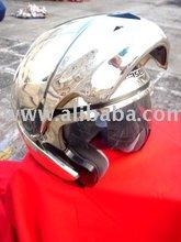 Masei 803 Chrome Silver Flip-up Motorcycle Helmet