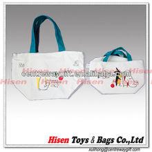 New fashion design high capacity multi color cotton canvas ladies' hangbag