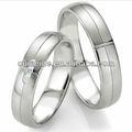 /oem odm fábrica de metal inovador ajuste do anel de casamento barato