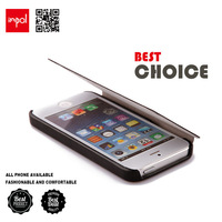 diy smooth lining PU leather flip mobile phone sleeve for iphone 4/4s