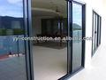 gran balcón puertas corredizas de vidrio exterior de aluminio y puerta mosquitera wih