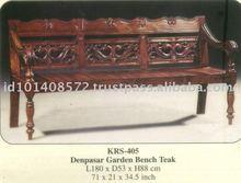Denpasar Garden Bench Mahogany Indoor Furniture