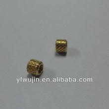small custom brass knurled bushing