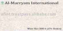 White Rice IRRI-6 25% Broken