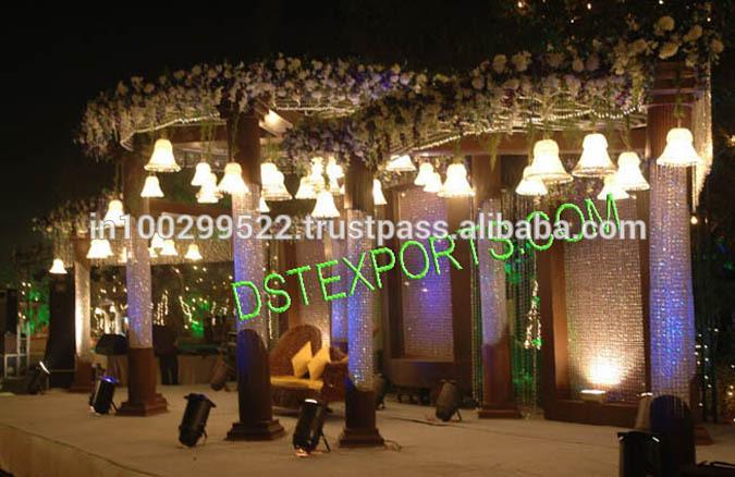 See larger image WEDDING CRYSTAL MANDAP WITH CRYSTAL BACKDROP