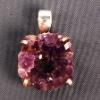 Silver Gemstone Amethyst Druzy Pendants Jewelry