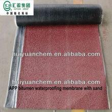 App modified bitumen waterproof membrane with compound mat
