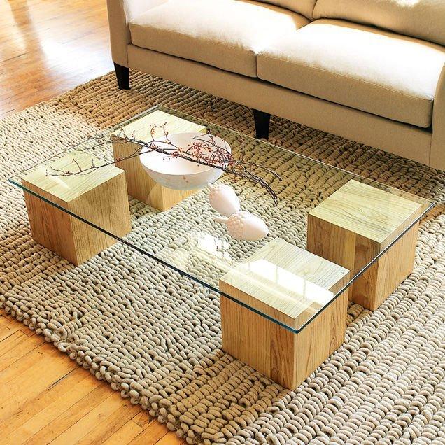 Thai wood coffee table