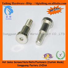 nickel plated hex socket cap head step machine screws