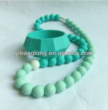 Green Teething Bubble Chunky Necklace Silicone