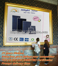 high efficient poly low price powerful solar panels 230 watt with tuv,CE,ISO,CEC