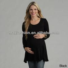 Pregnant women black blouse
