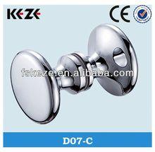 D07-C brass glass hand shaped door knob