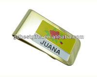 Custom business card holder money clip maker