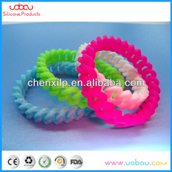 silicone chain link bracelet wristband bangle twist rubber