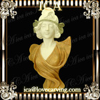 ICA,Bust statue,yellow bust BL0103