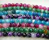 CH-JGB0165 semi precious beads,multicolor facted agate stone bead,gemstone jewelry finding bead