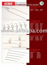 HORSE STAINLESS STEEL DUCK HANGER, 3-HEAD MEAT HOOK, T-HANGER,CHAR SIEW PIN
