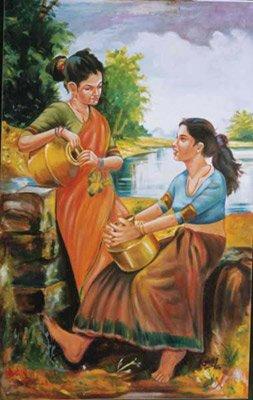 Las mujeres indias ( pinturas hechas a mano )